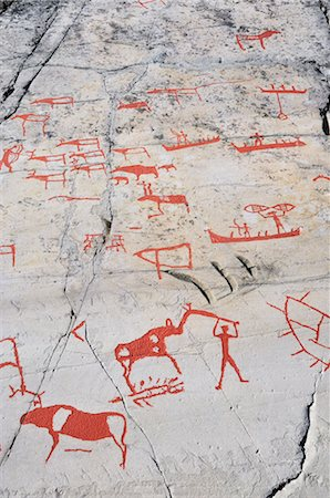 prehistoric - Prehistoric Rock Carvings, Alta, Norway Stock Photo - Rights-Managed, Code: 700-02967618