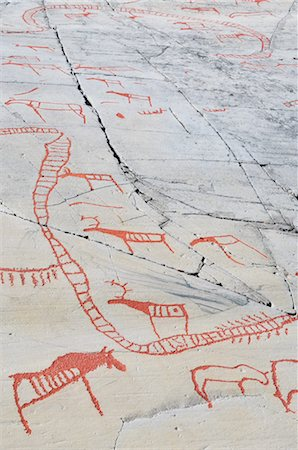 prehistoric - Prehistoric Rock Carvings, Alta, Norway Stock Photo - Rights-Managed, Code: 700-02967613