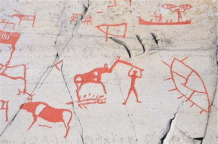prehistoric - Prehistoric Rock Carvings, Alta, Norway Stock Photo - Rights-Managed, Code: 700-02967620