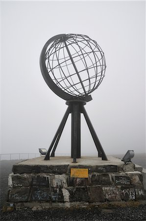 Globe Monument at Nordkapp, Norway Stock Photo - Rights-Managed, Code: 700-02967692