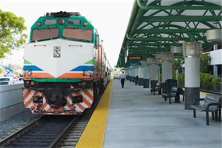 Tri-Rail Train Running From Miami to West Palm Beach, Florida, USA Stock Photo - Rights-Managed, Code: 700-02972796