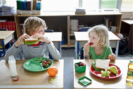 school desk - Students Eating Lunch Stock Photo - Rights-Managed, Code: 700-02989958