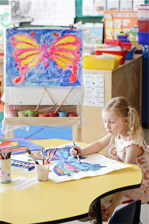 Student in Art Class Stock Photo - Rights-Managed, Code: 700-02989964