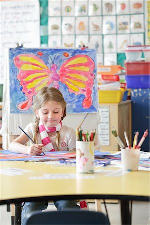 Student in Art Class Stock Photo - Rights-Managed, Code: 700-02989965