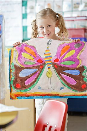 Student Holding Her Painting Stock Photo - Rights-Managed, Code: 700-02989969