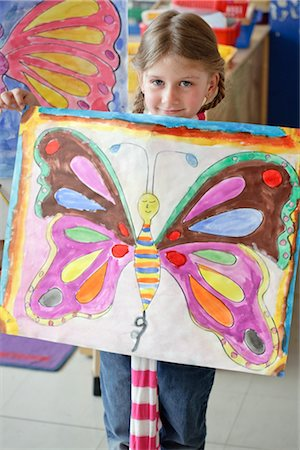 Student Holding Her Painting Stock Photo - Rights-Managed, Code: 700-02989983