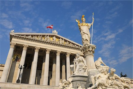 Pallas Athene Fountain and Parliament Building, Vienna, Austria Stock Photo - Rights-Managed, Code: 700-02990017