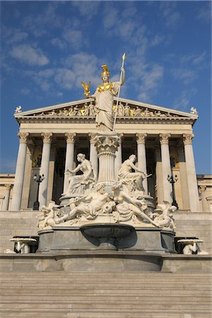 Pallas Athene Fountain and Parliament Building, Vienna, Austria Stock Photo - Rights-Managed, Code: 700-02990019