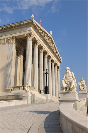 Austrian Parliament Building, Vienna, Austria Stock Photo - Rights-Managed, Code: 700-02990020