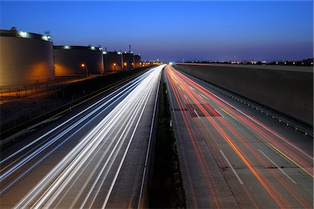 Highway Next to the Oil Refinery in Schwechat, Vienna, Austria Stock Photo - Rights-Managed, Code: 700-02990036