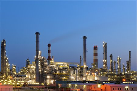 Oil Refinery in Schwechat, Vienna, Austria Stock Photo - Rights-Managed, Code: 700-02990037
