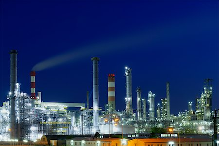 Oil Refinery in Schwechat, Vienna, Austria Stock Photo - Rights-Managed, Code: 700-02990038
