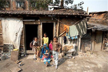 Children Outside their Home, Tilijara, Kolkata, West Bengal, India Stock Photo - Rights-Managed, Code: 700-03004180
