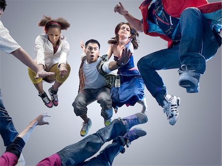 filipino (male) - Group of People Jumping Stock Photo - Rights-Managed, Code: 700-03005078