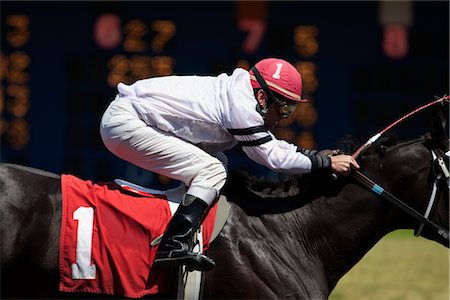 Jockey on Horse in Race Stock Photo - Rights-Managed, Code: 700-03005167