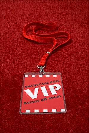 special event - Close-up of VIP Backstage Pass Stock Photo - Rights-Managed, Code: 700-03003481