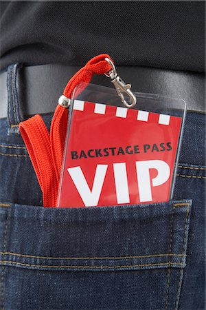 special event - VIP Pass in Man's Back Pocket Stock Photo - Rights-Managed, Code: 700-03003665