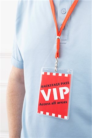 special event - Man Wearing a VIP Pass Stock Photo - Rights-Managed, Code: 700-03003662