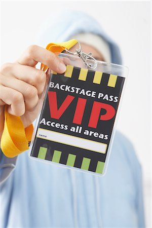 special event - Woman Holding a VIP Pass Stock Photo - Rights-Managed, Code: 700-03003663