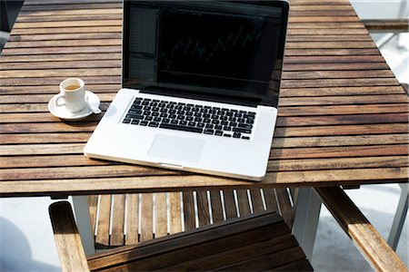Laptop Computer and a Cup of Coffee Stock Photo - Rights-Managed, Code: 700-03014804