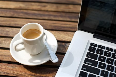 Laptop Computer and a Cup of Coffee Stock Photo - Rights-Managed, Code: 700-03014803