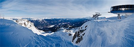 panoramic winter scene - View From the Top of Whistler Peak, Whistler, British Columbia, Canada Stock Photo - Rights-Managed, Code: 700-03014829