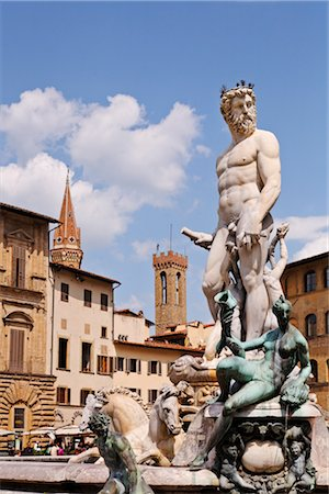 Piazza della Signoria, Florence, Tuscany, Italy Stock Photo - Rights-Managed, Code: 700-03015125