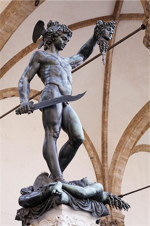 Statue of Perseus, Piazza della Signoria, Florence, Tuscany, Italy Stock Photo - Rights-Managed, Code: 700-03015127