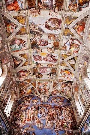 Sistine Chapel, Vatican Museum, Vatican City, Rome, Italy Stock Photo - Rights-Managed, Code: 700-03015157