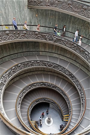 Staircase in the Vatican Museum, Vatican City, Rome, Italy Stock Photo - Rights-Managed, Code: 700-03015161