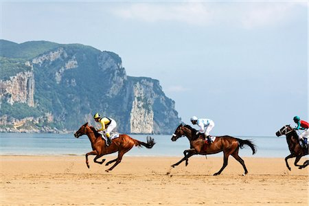 Horse Racing on the Beach, Laredo, Cantabria, Spain Stock Photo - Rights-Managed, Code: 700-03015190