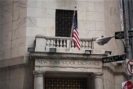 stock exchange building - Wall Street, New York City, New York, USA Stock Photo - Rights-Managed, Code: 700-03017145