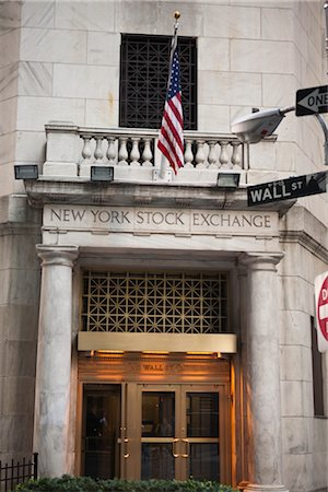 stock exchange building - Wall Street, New York City, New York, USA Stock Photo - Rights-Managed, Code: 700-03017146