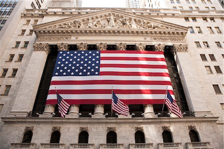 stock exchange building - Wall Street, New York City, New York, USA Stock Photo - Rights-Managed, Code: 700-03017147