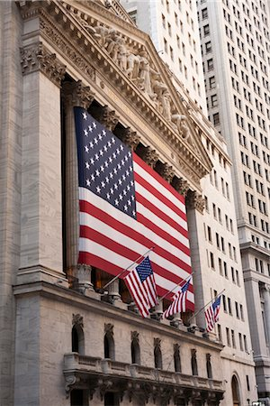 stock exchange building - Wall Street, New York City, New York, USA Stock Photo - Rights-Managed, Code: 700-03017149