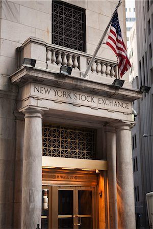 stock exchange building - Wall Street, New York City, New York, USA Stock Photo - Rights-Managed, Code: 700-03017150