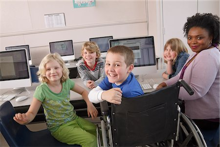 Teacher with Students at Computer Stock Photo - Rights-Managed, Code: 700-03017556