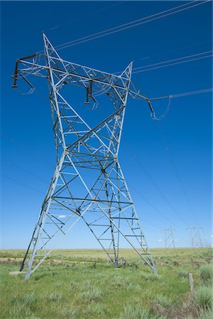 Hydro Towers in the Colorado Prairies, USA Stock Photo - Rights-Managed, Code: 700-03017667