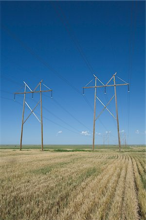 Hydro Towers in the Colorado Prairies, USA Stock Photo - Rights-Managed, Code: 700-03017670