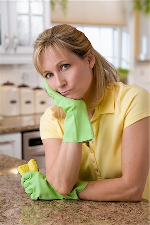Woman Doing Housework Stock Photo - Rights-Managed, Code: 700-03017713