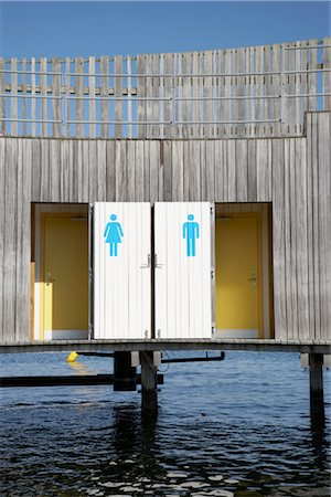 Changing Rooms at the Beach, Copenhagen, North Sealand, Denmark Stock Photo - Rights-Managed, Code: 700-03017821