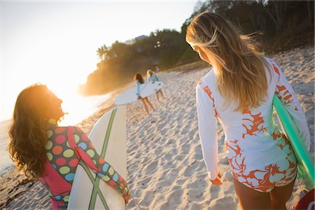 Women with Surf Boards on Beach, Punta del Burro, Nayarit, Mexico Stock Photo - Rights-Managed, Code: 700-03017968