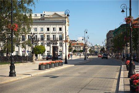 Street Scene, Krakowskie Przedmiescie, Warsaw, Poland Stock Photo - Rights-Managed, Code: 700-03054193