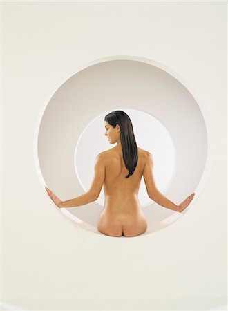 Rear View of Nude Woman Stock Photo - Rights-Managed, Code: 700-03059131