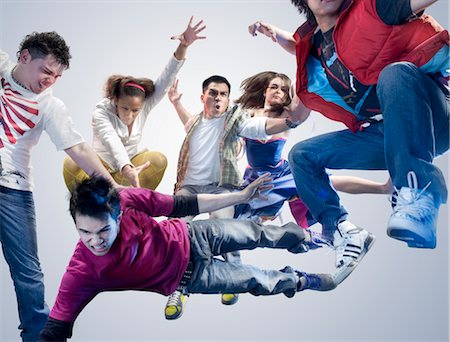 filipino (male) - Group of Young Adults Jumping in Air Stock Photo - Rights-Managed, Code: 700-03068086