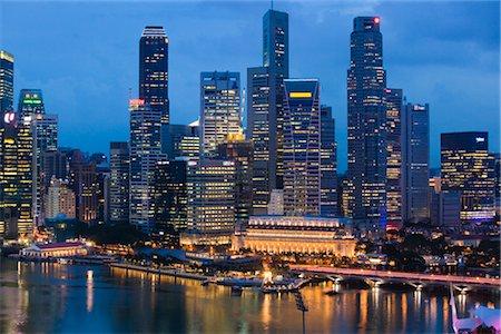 Skyline, Marina Bay, Singapore Stock Photo - Rights-Managed, Code: 700-03068095