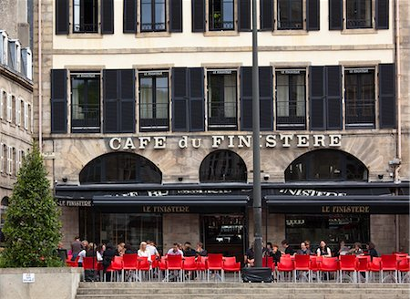 european bar building - Cafe du Finistere, Quimper, Finistere, Brittany, France Stock Photo - Rights-Managed, Code: 700-03068100