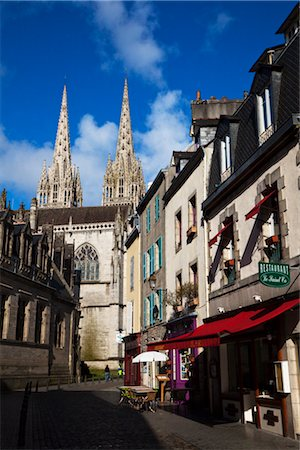 Quimper Cathedral, Quimper, Finistere, Brittany, France Stock Photo - Rights-Managed, Code: 700-03068110
