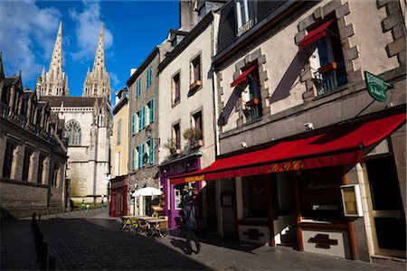 Quimper Cathedral, Quimper, Finistere, Brittany, France Stock Photo - Rights-Managed, Code: 700-03068111