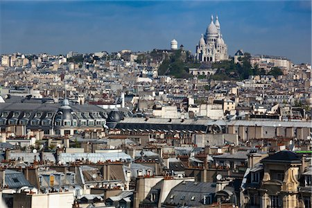 Overview of Montmartre, Paris, France Stock Photo - Rights-Managed, Code: 700-03068306